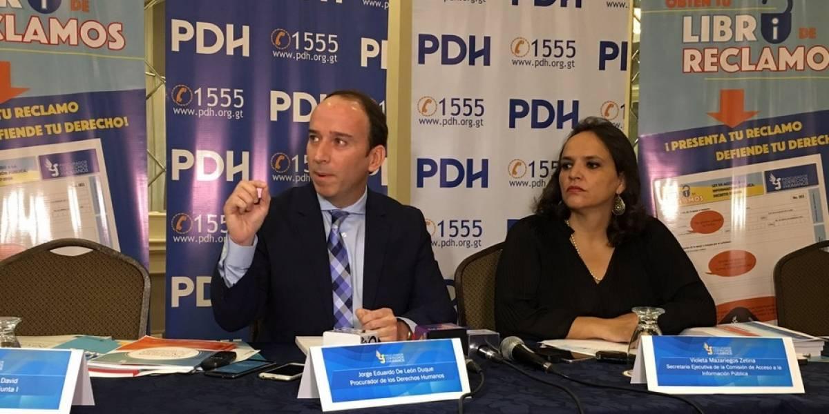 PDH implementa libro de quejas por negar acceso a información pública