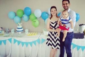 Valeria Maza y su familia