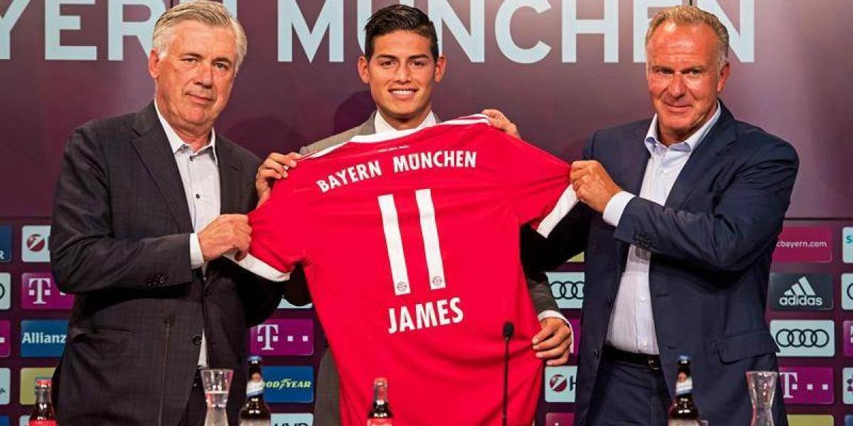 ¿James llega a pelearle el puesto a Vidal en el Bayern Munich?
