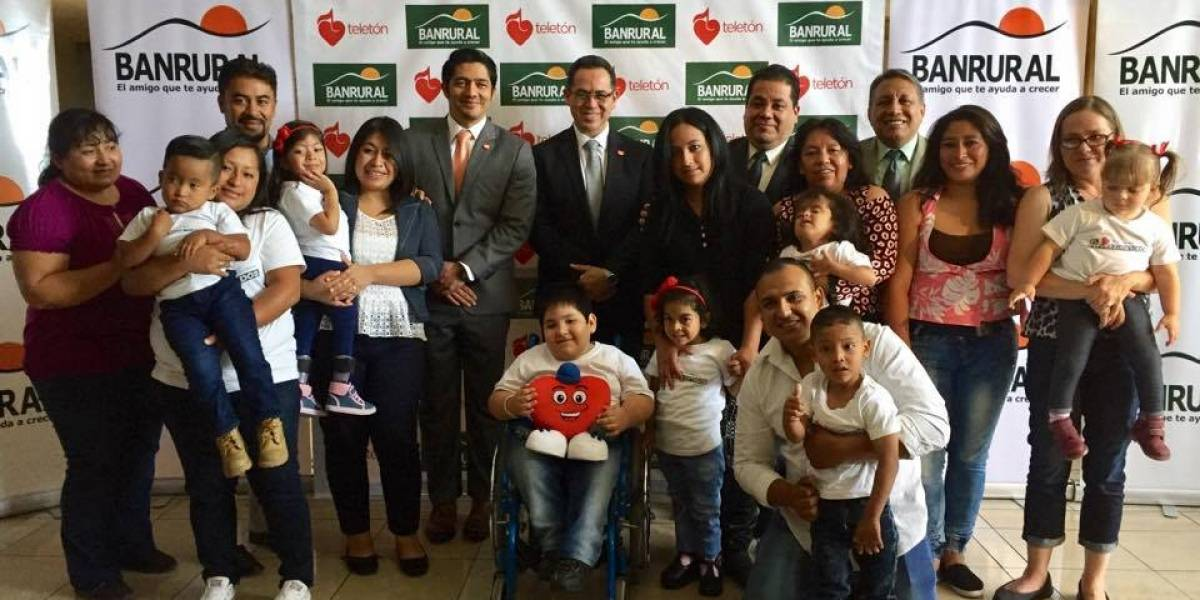 Banrural habilita una cuenta para que los guatemaltecos apoyen la Teletón
