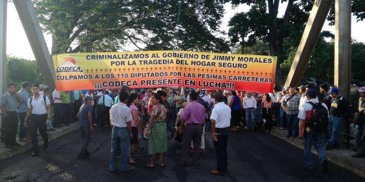 Organizaciones campesinas bloquean diferentes puntos a nivel nacional