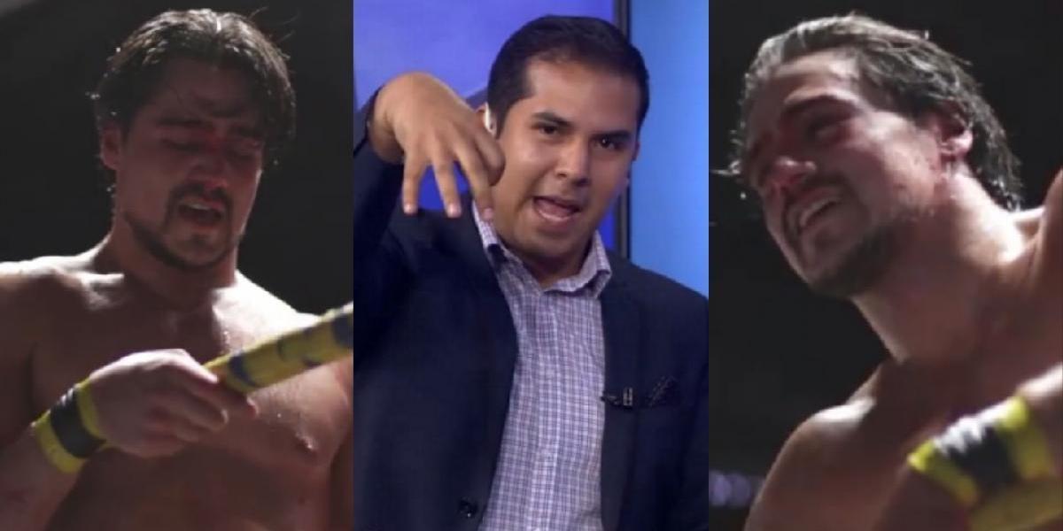 VIDEO: El luchador Garza Jr.golpea a conductor de deportes