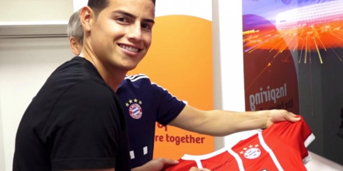 Video: Primeras palabras de James Rodríguez como jugador del Bayern München