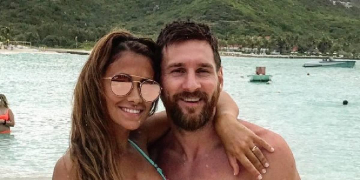 Antonela Roccuzzo se burló de Lionel Messi y Luis Suárez