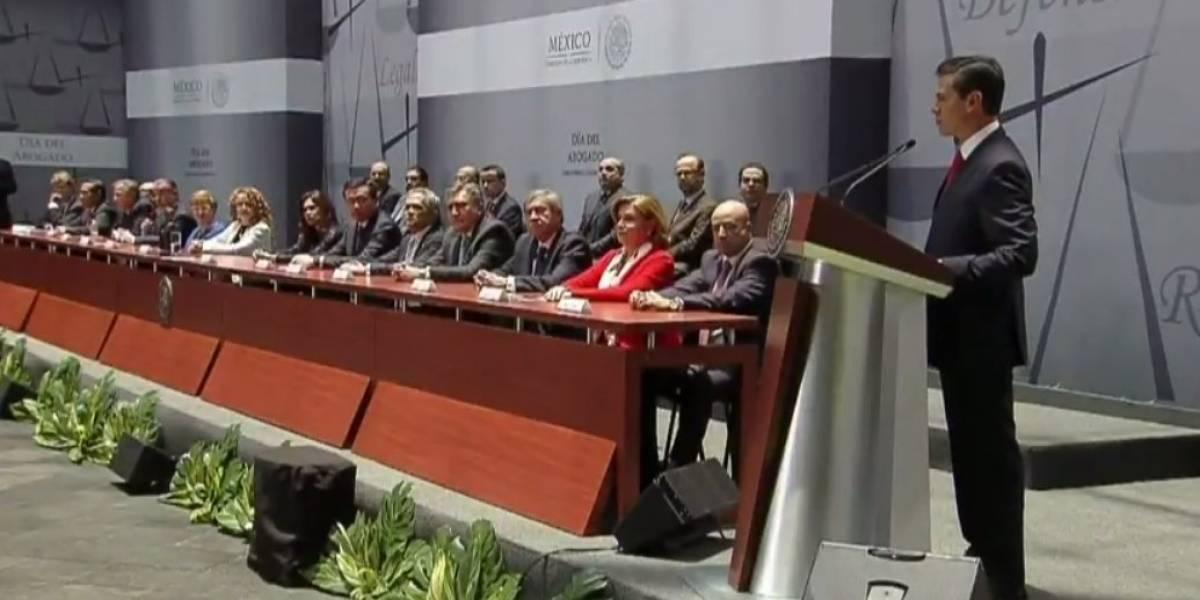 Peña Nieto llama a reflexionar avances con el Nuevo Sistema de Justicia Penal