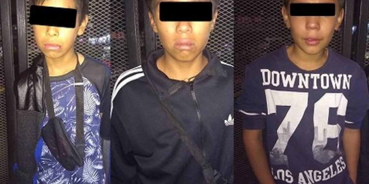 Detienen a tres menores por presuntamente robar en el Metro