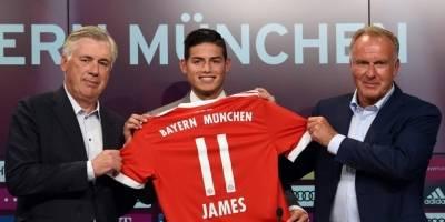 Dorsal de James Rodríguez en el Bayern Múnich