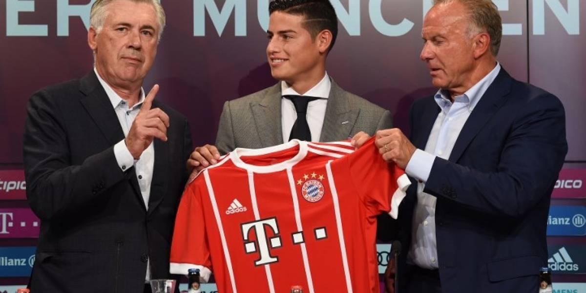 EN IMÁGENES. Así fue la presentación de James con el Bayern Múnich