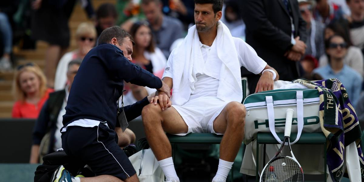 Novak Djokovic se despide de Wimbledon sin terminar su partido