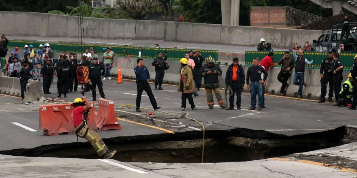 SCT confirma muerte de dos personas que cayeron en socavón de Paso Express