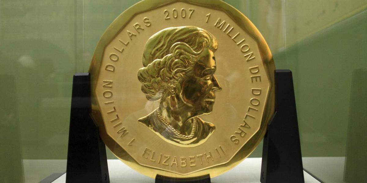 El robo del siglo: 2 detenidos por hurtar moneda de oro de 100 kilos