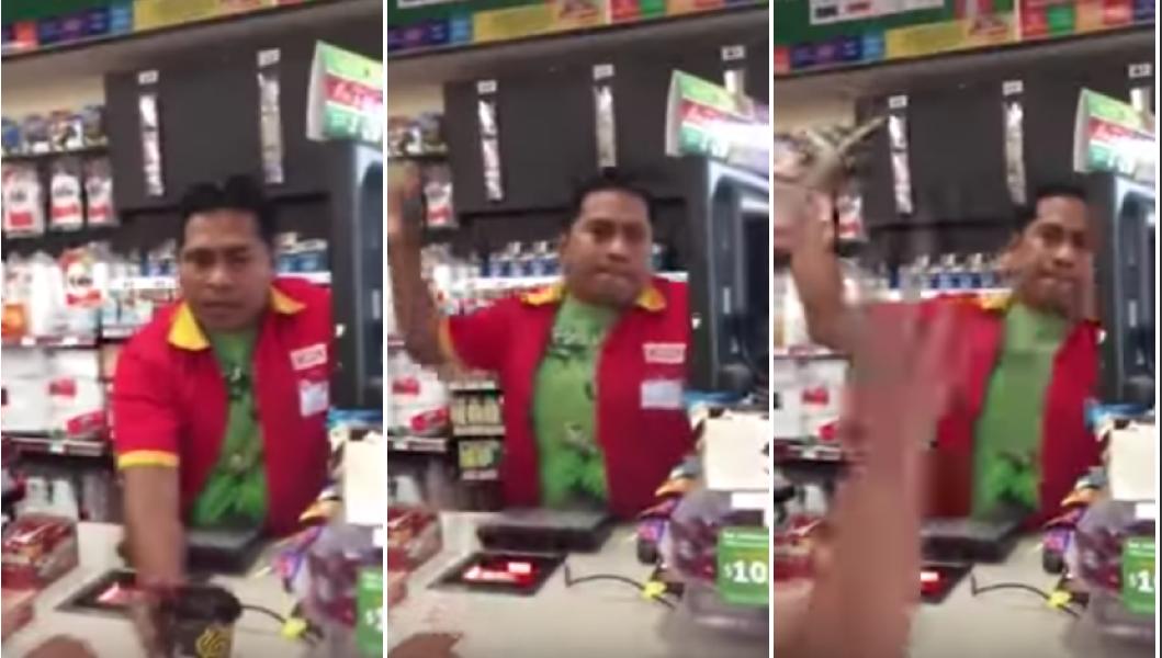 La inesperada reacción de un cajero de Oxxo con un cliente: ¡Le lanzó el café!