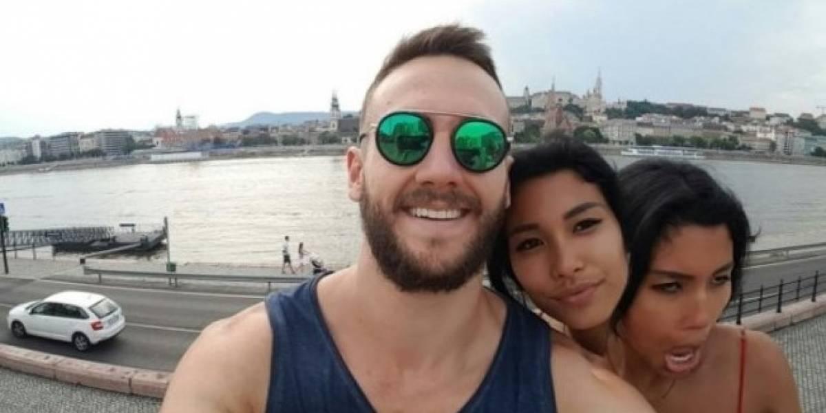 Joven sube selfie con su novia de dos cabezas y causa revuelo en redes sociales