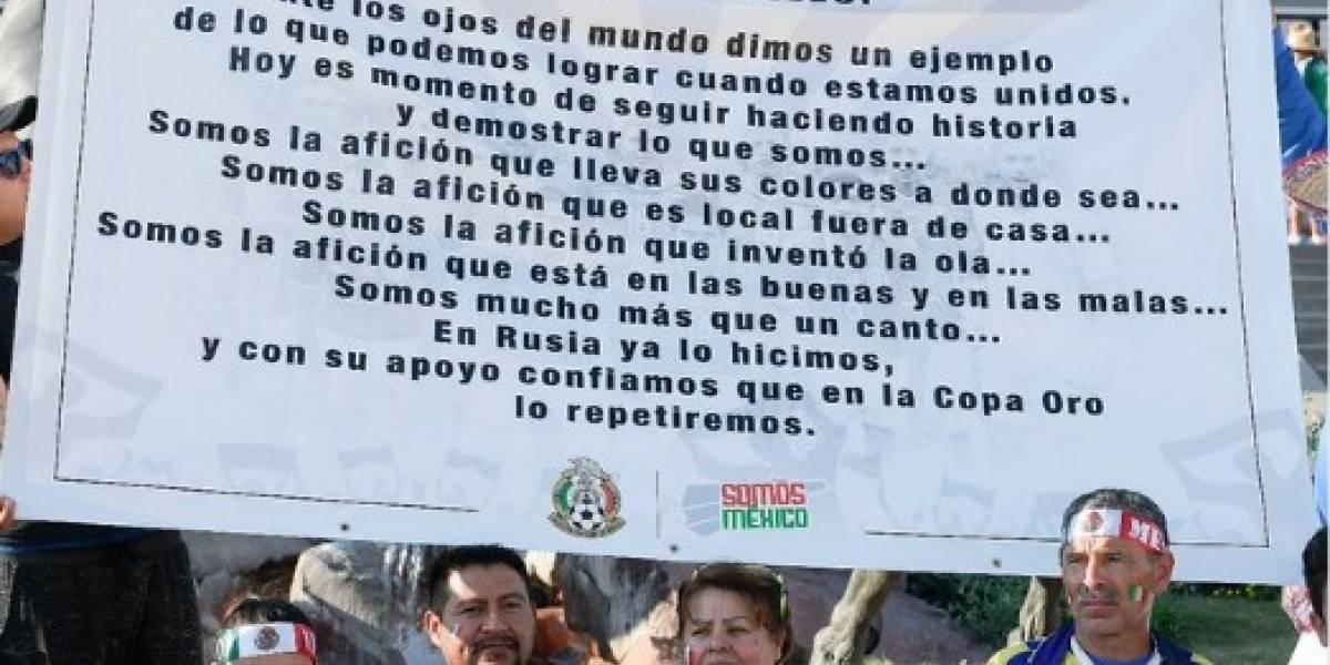 'Paisanos' acuerdan no gritar 'ehh put..' en la Copa Oro