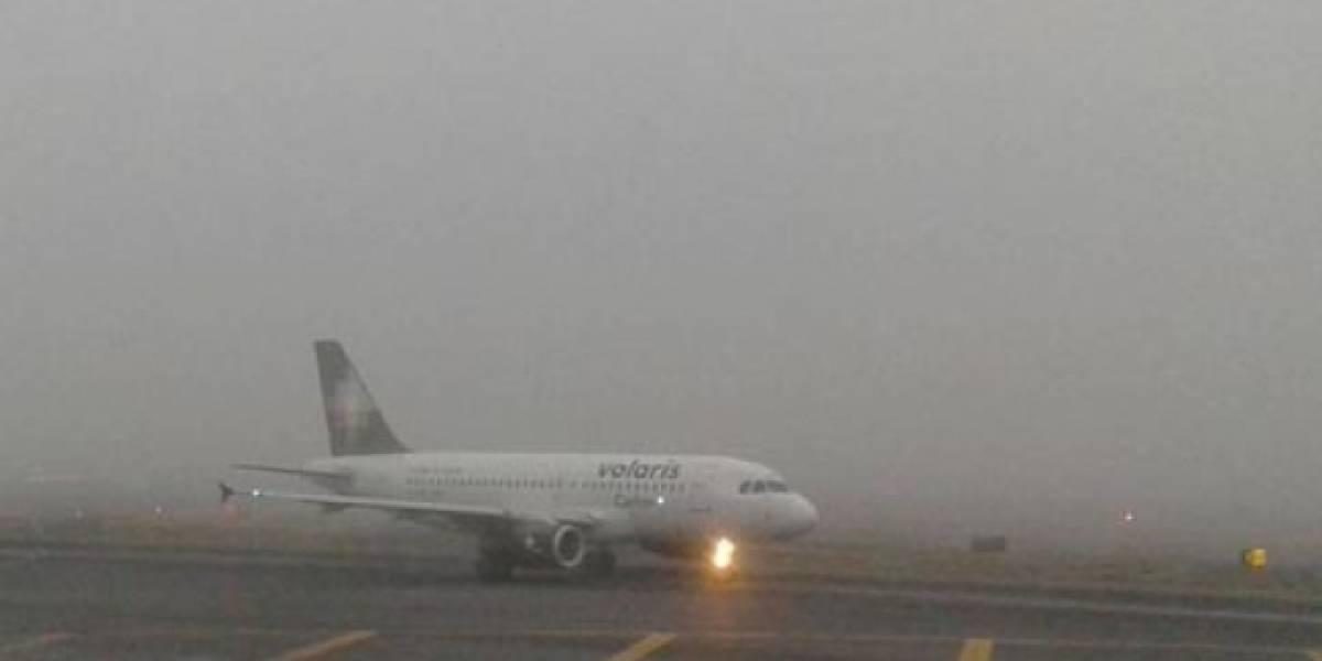 Reportan banco de niebla en el Aeropuerto Internacional de la Ciudad de México