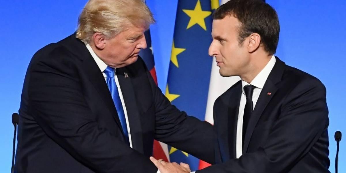 """Macron, """"sorprendido"""" por las reacciones de la visita de Trump"""