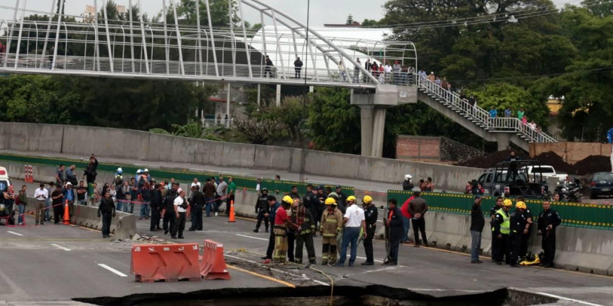 SFP y CNDH investigan causas de socavón en Paso Express