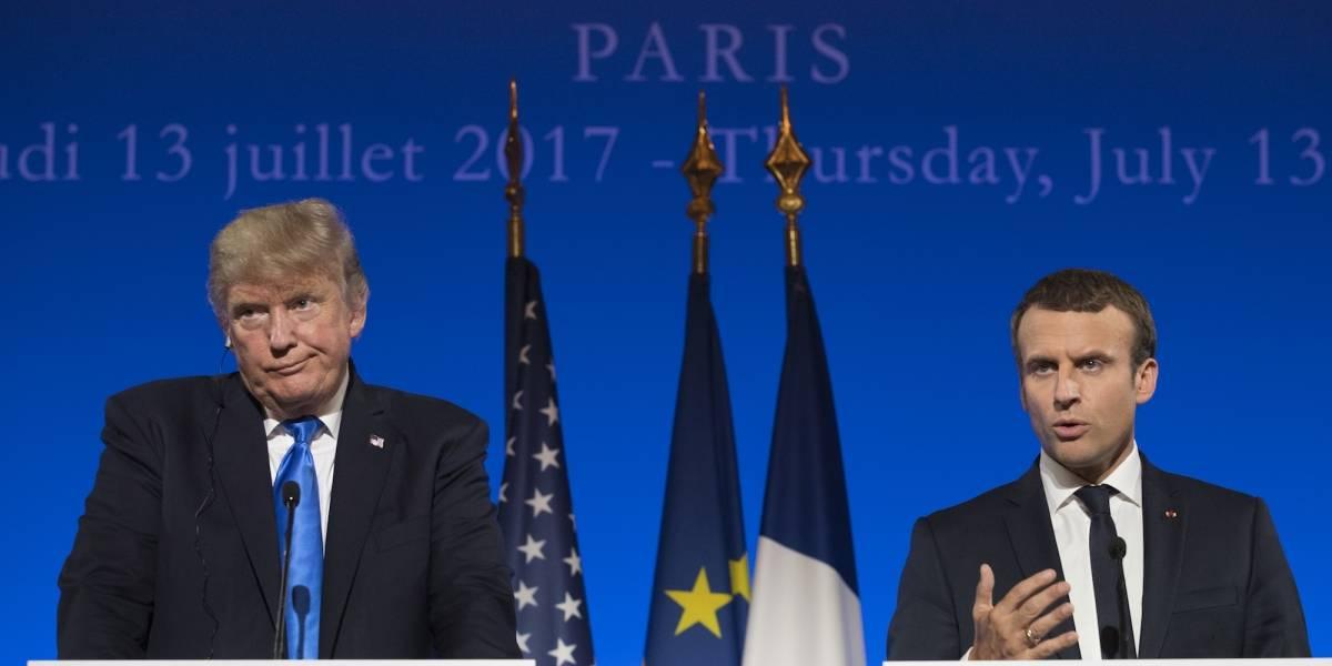 Trump y Macron dejan atrás diferencias sobre Acuerdo de París