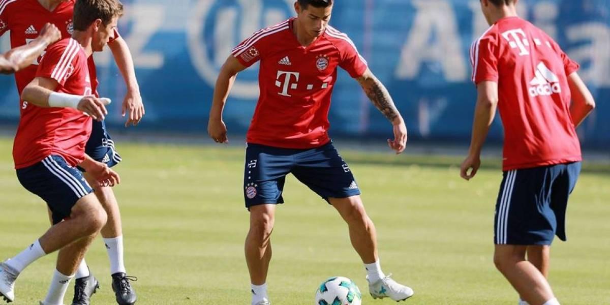 VIDEO. Así fue el primer entrenamiento de James con el Bayern