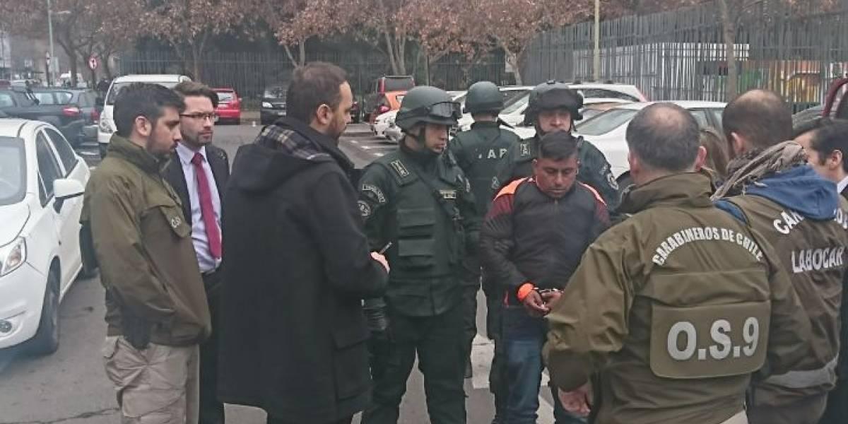 El jueves se realizó reconstitución de escena del asesinato del guardia en el Parque Arauco