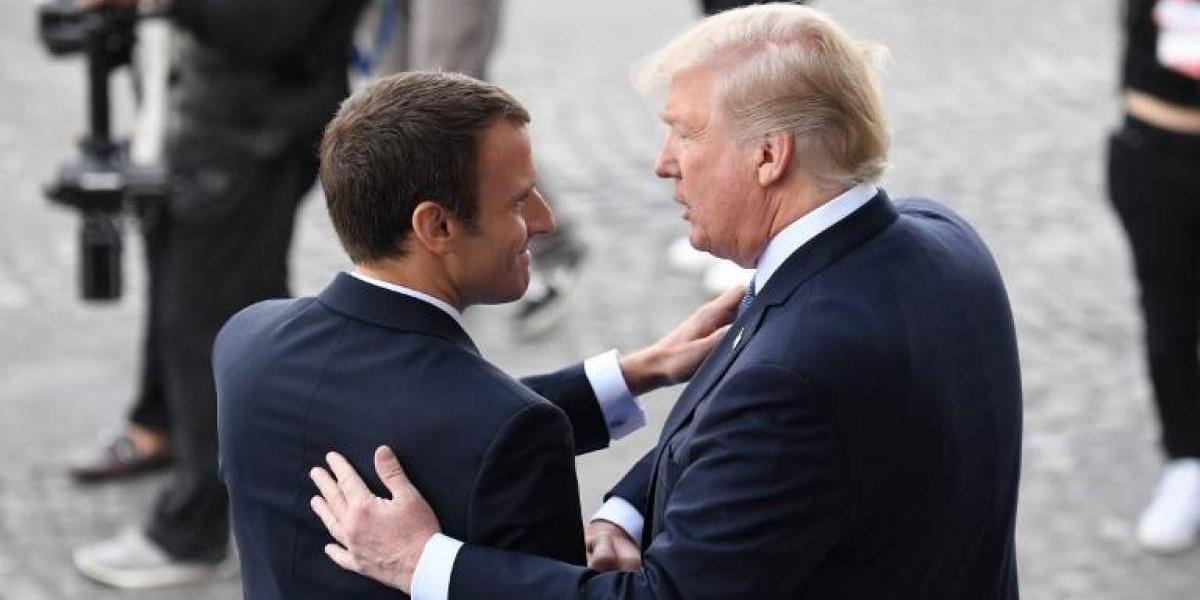 """""""Nada nos separará jamás"""": Macron sella su amistad con Trump y EEUU"""