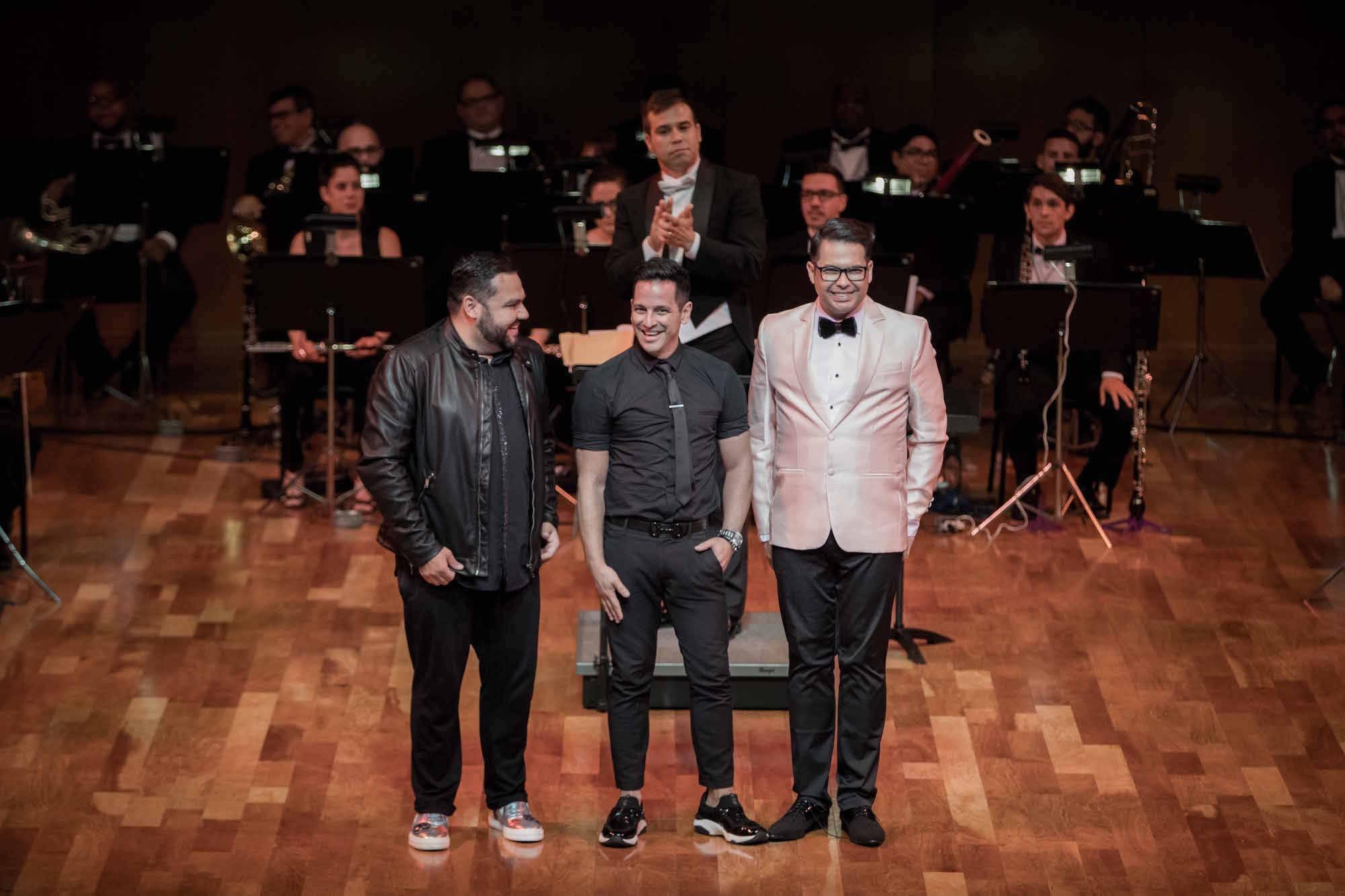 De izquierda a derecha, los diseñadores Benito Santos, Luis Antonio y Douglas Tapia. / Foto: suministrada