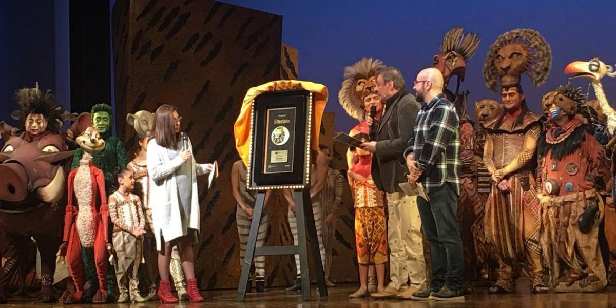 Musical de El Rey León recibe Disco de Oro por altas ventas