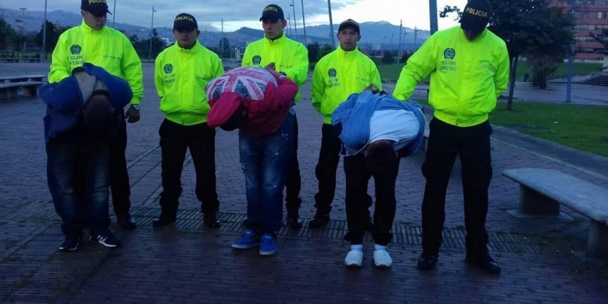 """Capturados """"Los Inspectores de Billeteras"""" del norte de Bogotá"""