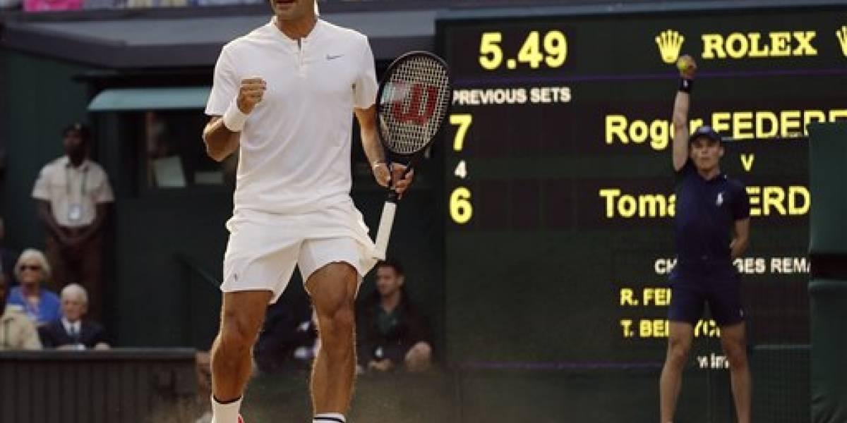 Roger Federer avanza a la final de Wimbledon