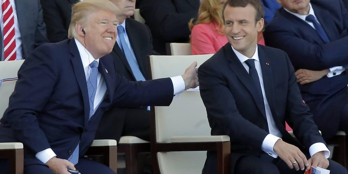 Trump encabeza desfile militar de Día Nacional de Francia