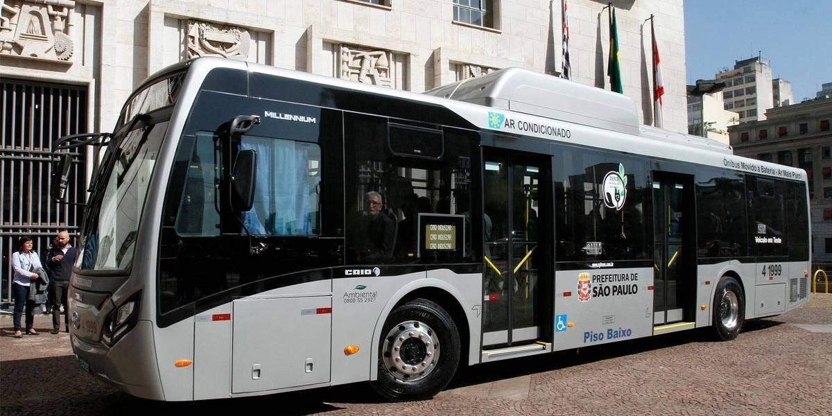 Primeiro ônibus elétrico movido a bateria vai rodar em São Paulo