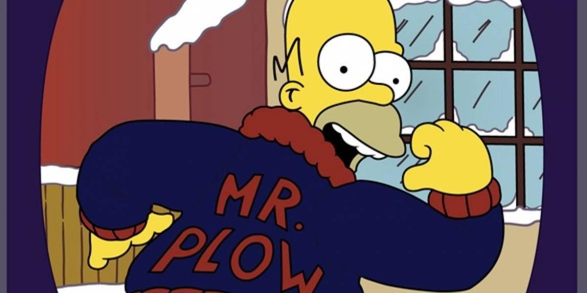 """Tuiteros se acordaron de Los Simpson y pidieron ayuda a """"Don Barredora"""" para lidiar con la nieve"""