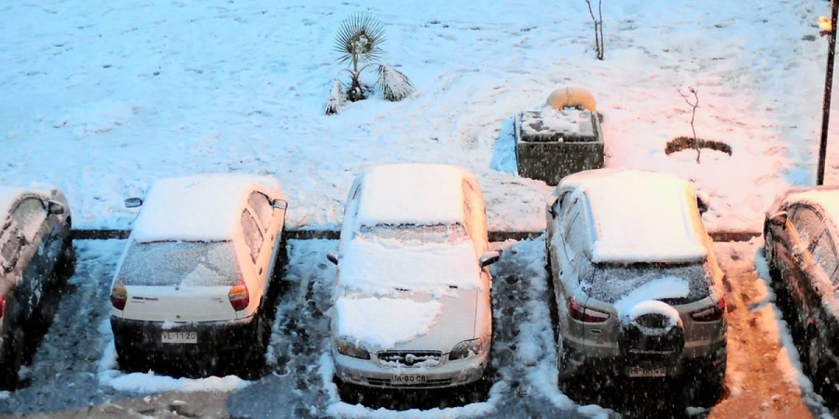 Hogares sin luz y árboles caídos: los primeros efectos de la nieve que cubrió gran parte de Santiago