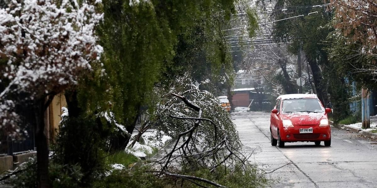 Reportan más de 200 mil clientes sin luz tras histórica nevazón en la Región Metropolitana