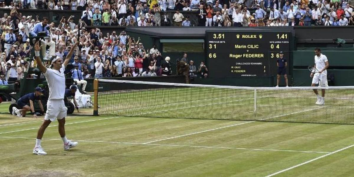 Así vivimos el arrollador triunfo de Federer sobre Cilic en la final de Wimbledon