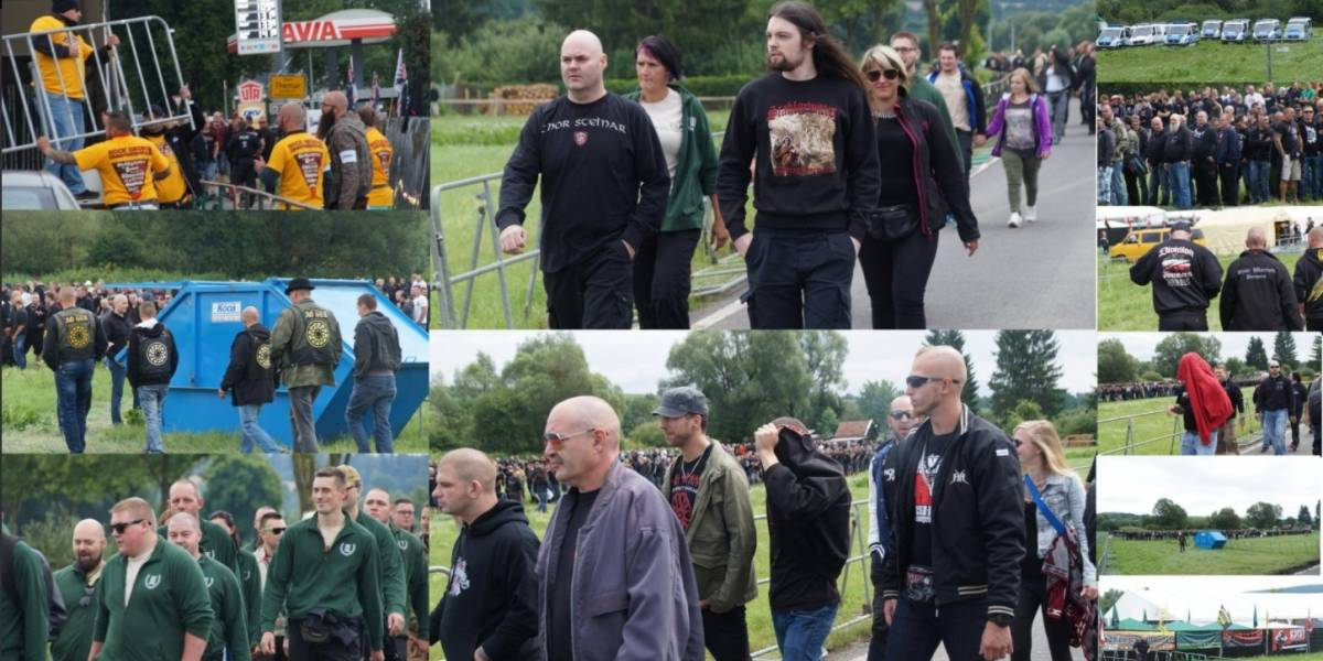 Más de 4.000 neonazis toman un pueblo alemán para un concierto