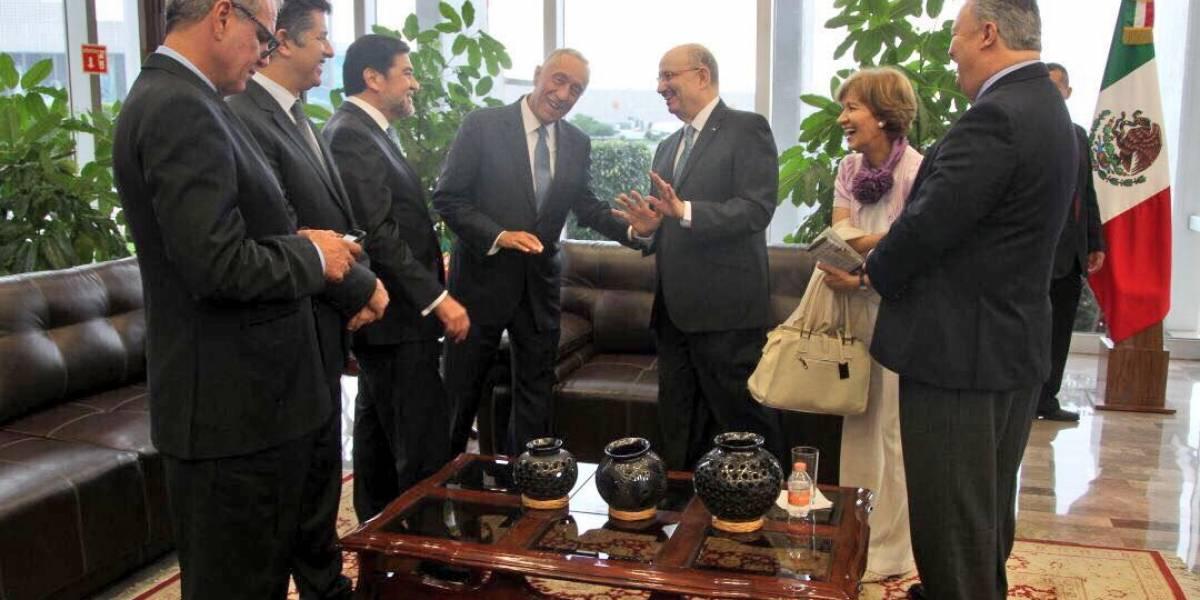 Presidente de Portugal llega a México; se reunirá con Peña Nieto