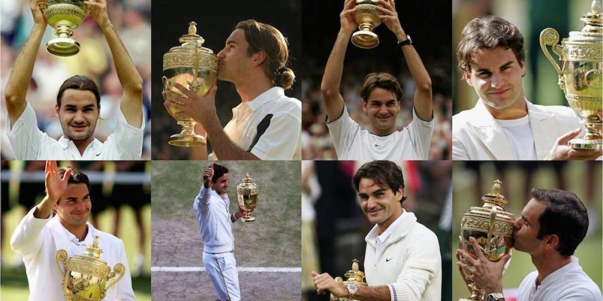 FOTOS: Roger Federer, 8 veces campeón de Wimbledon