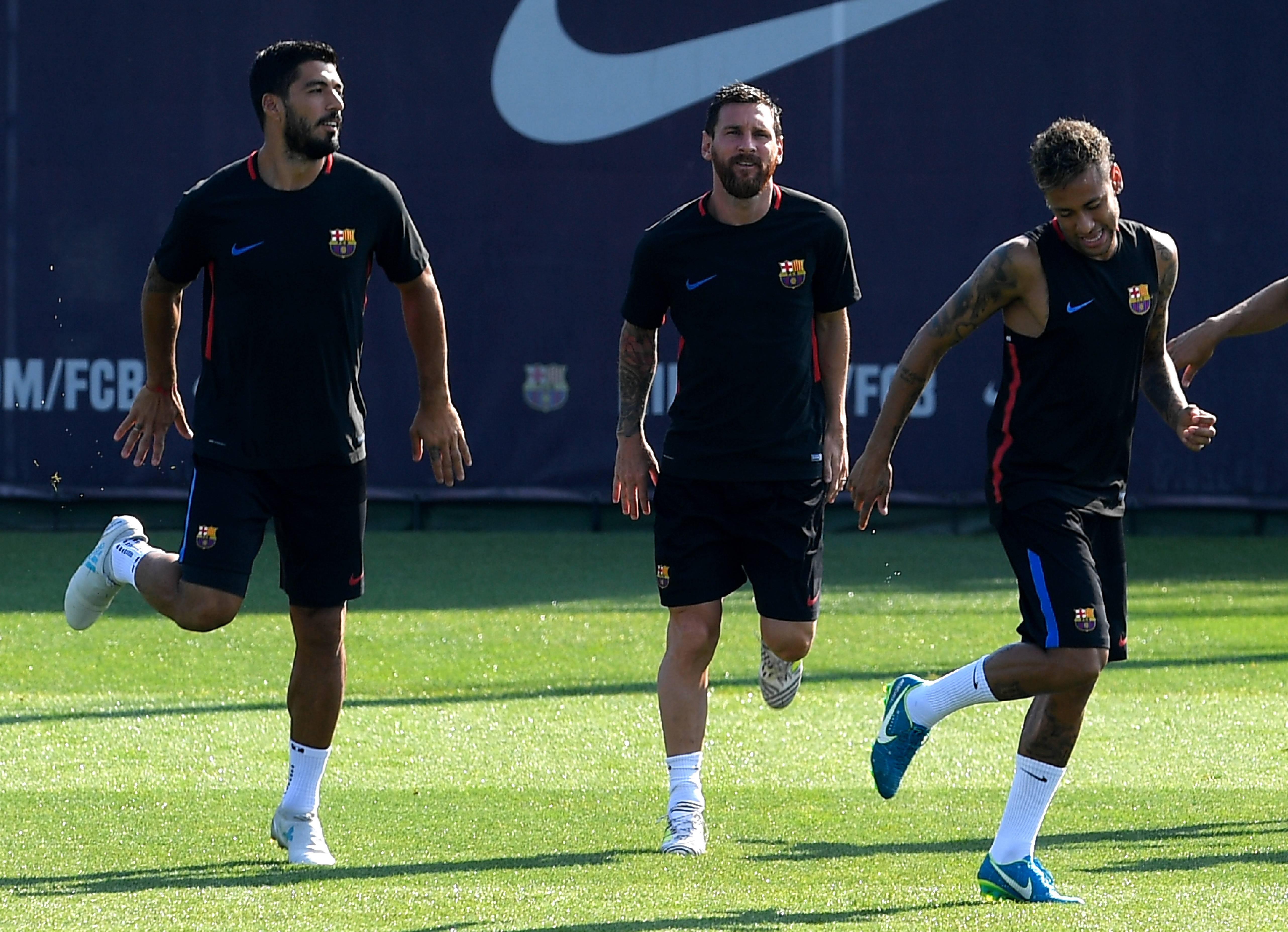 El brasileño trabaja la pretemporada con el Barcelona.