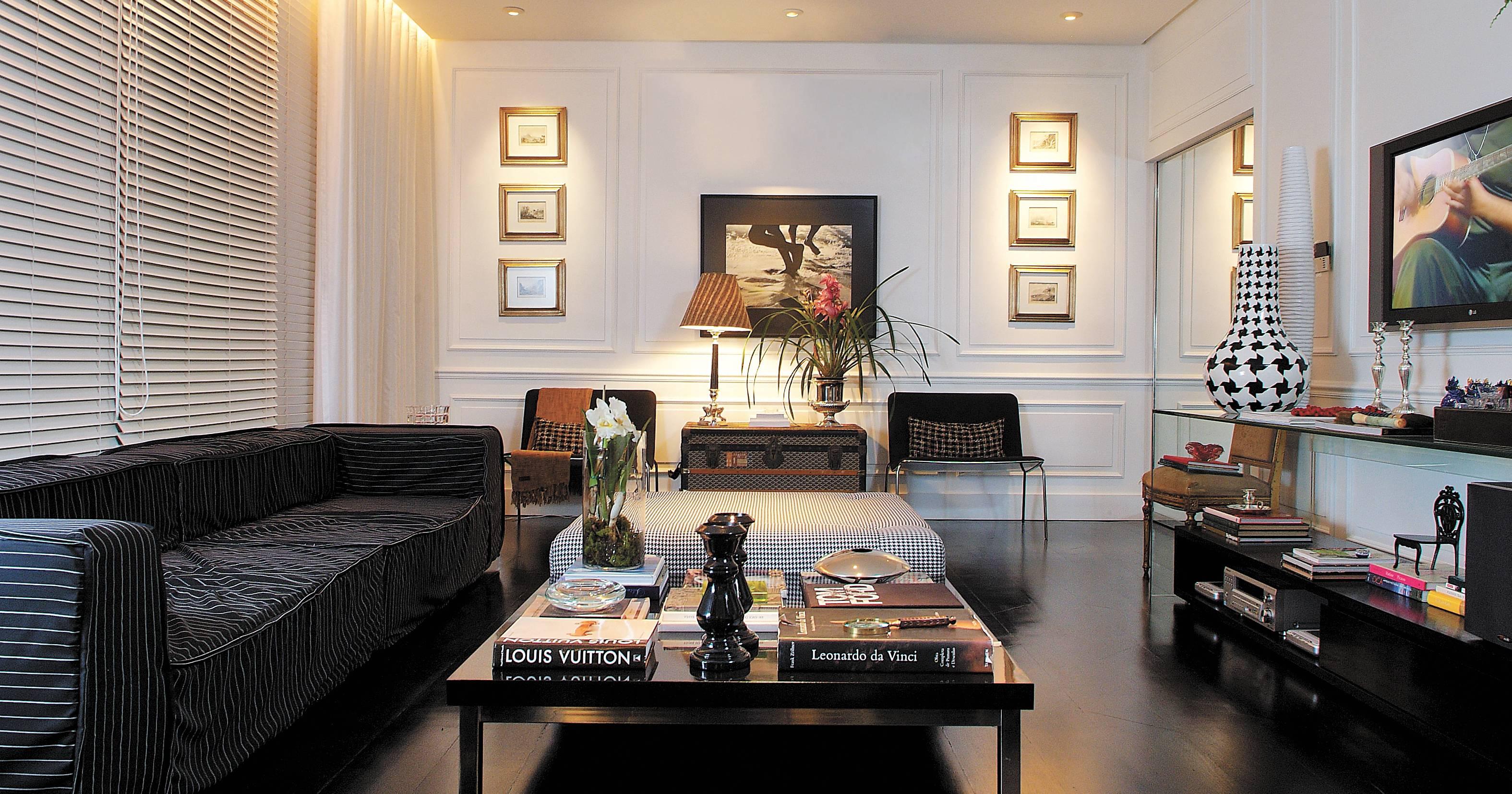 Nesta decoração por Marlon Gama, o preto foi combinado com branco | Divulgação