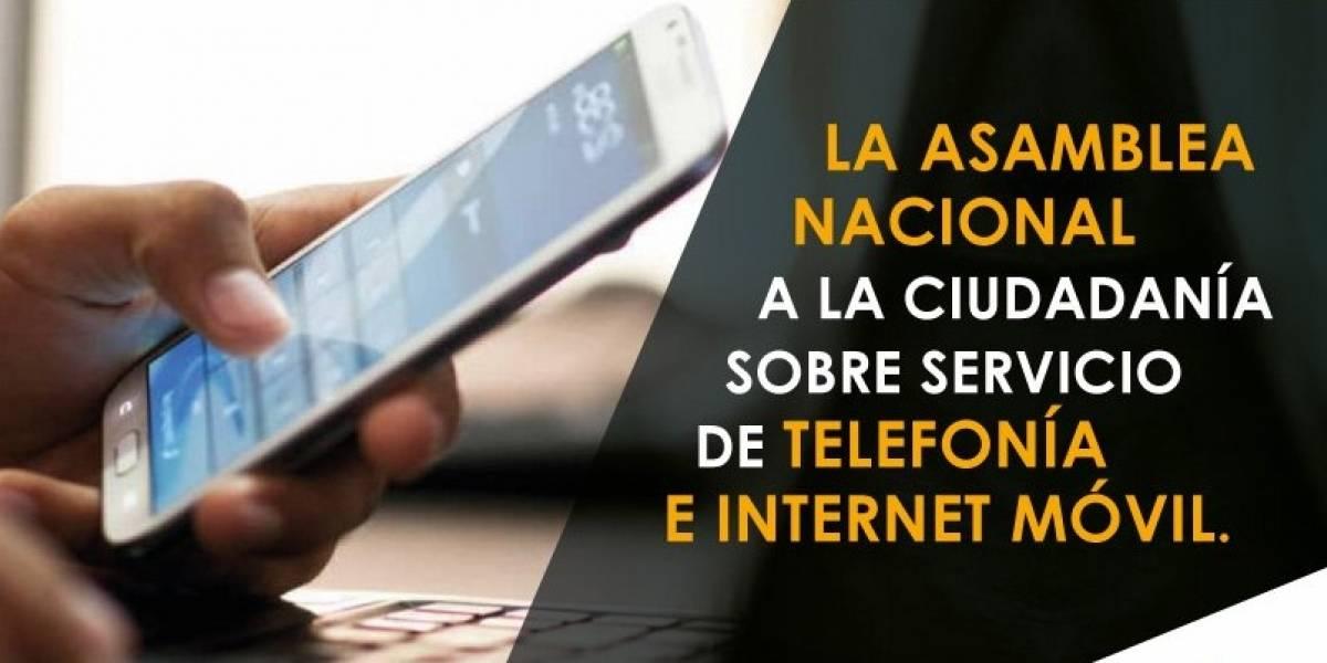 Asamblea Nacional se pronunció sobre servicio de telefonía e internet