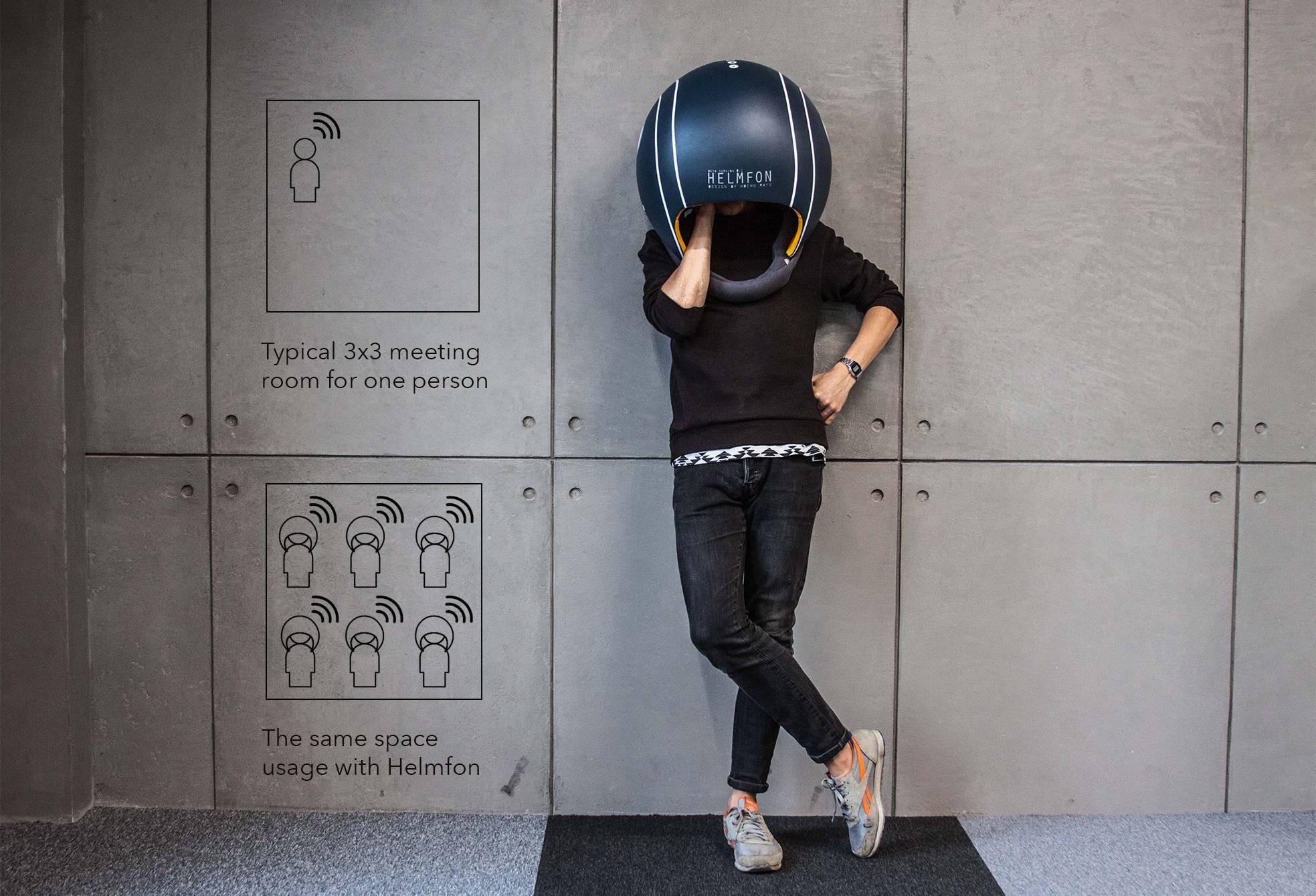 Helmfot está diseñado para que puedan usarse todos los dispositivos mientras se lleva puesto.
