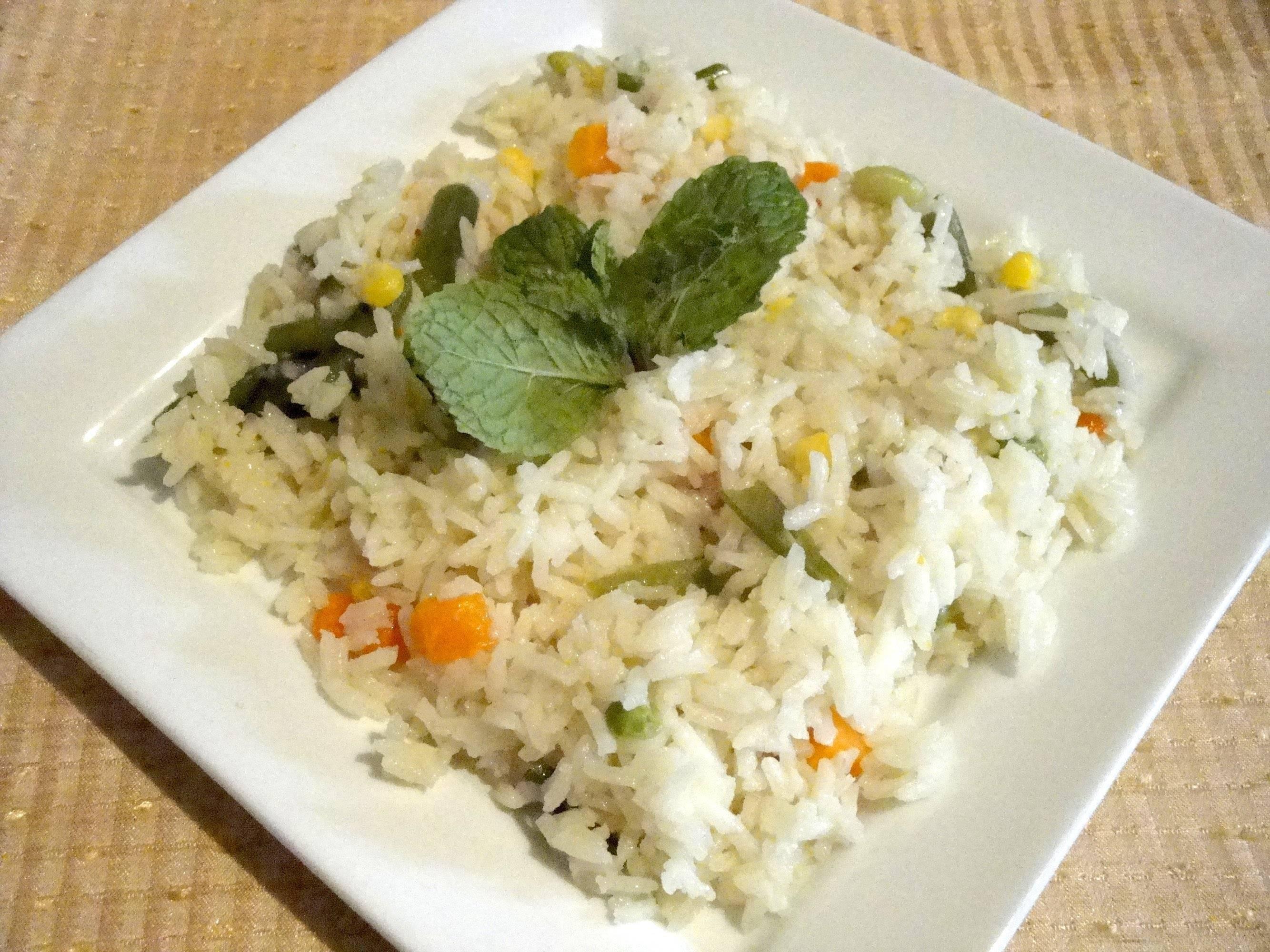 Cocción del arroz con pollo