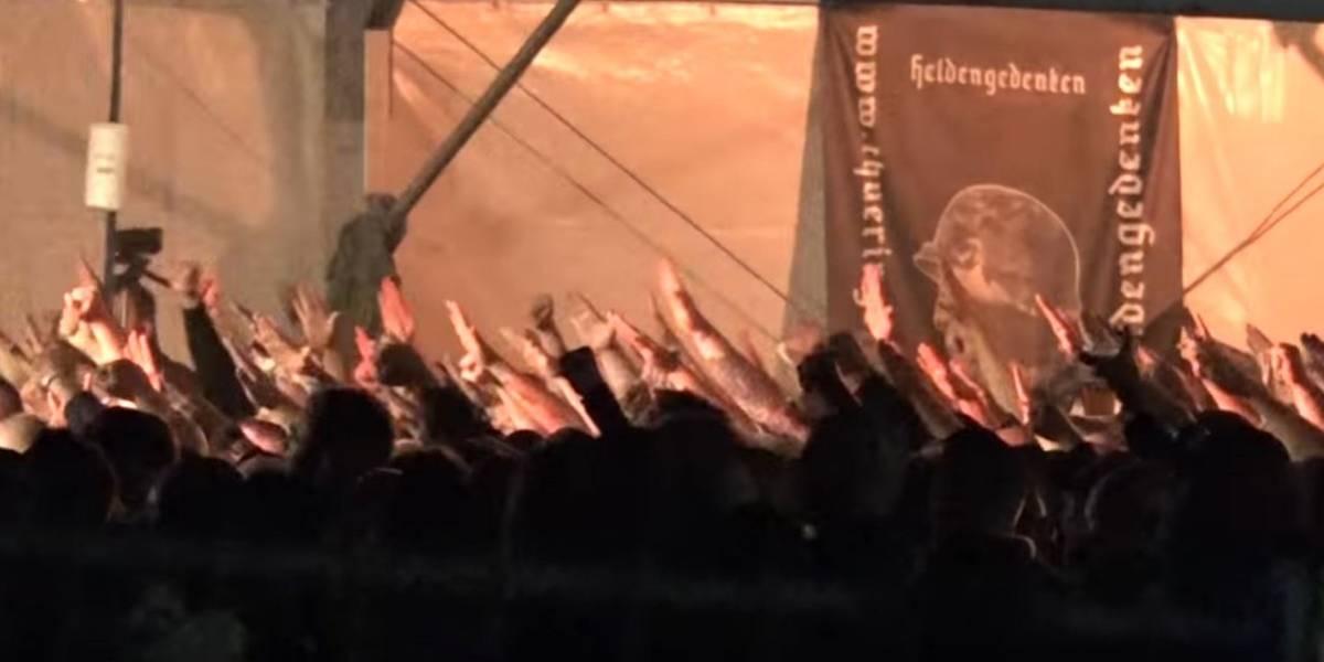 """""""Amo a Hitler"""": Escándalo en Alemania por mayor festival neonazi al que asistieron seis mil personas"""