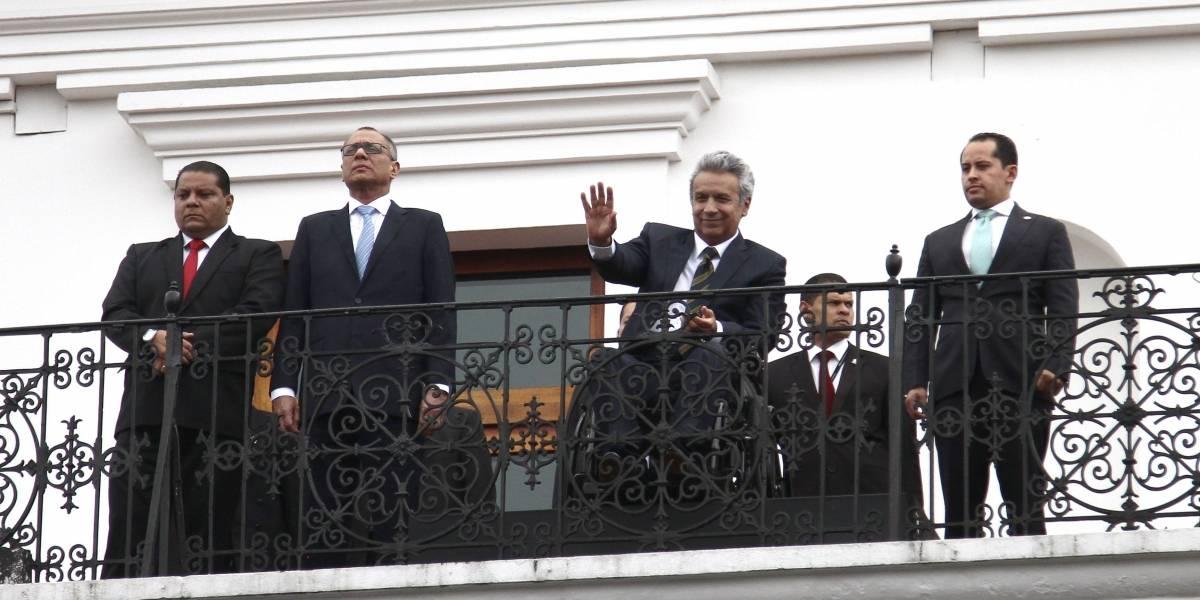 Partidarios de Jorge Glas se manifestaron en contra de Lenín Moreno