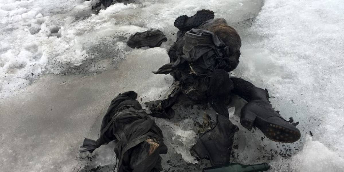 Increíble hallazgo: encuentran a pareja momificada en glaciar suizo a 75 años de su desaparición