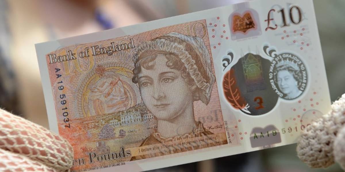 """Presentan nuevo billete de diez libras con el rostro de la autora de """"Orgullo y Prejuicio"""""""