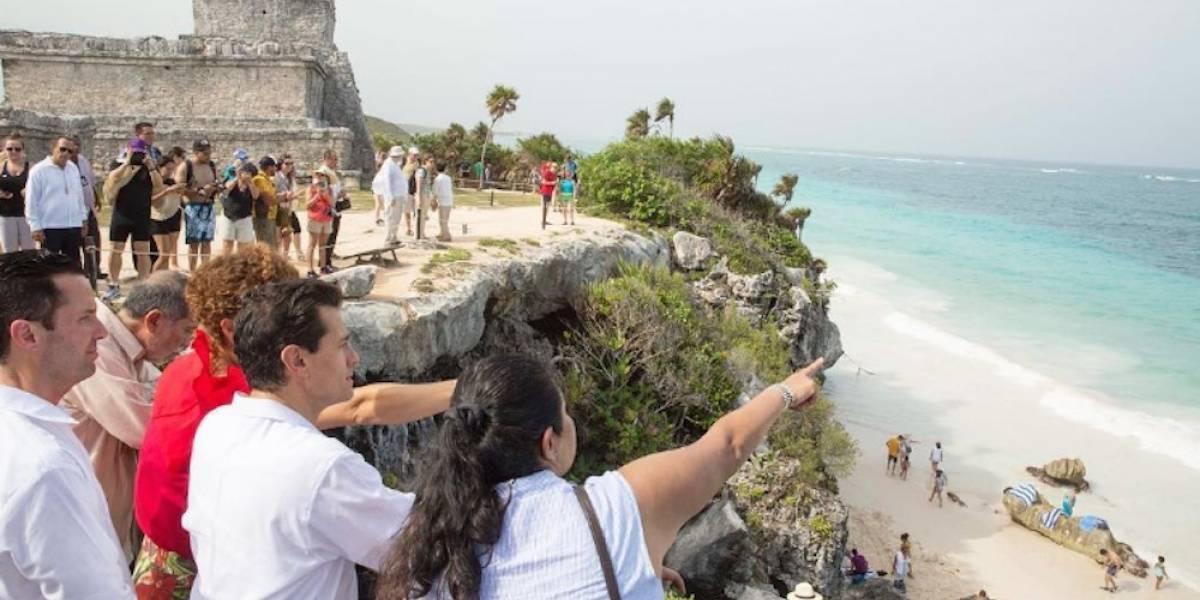 Peña Nieto celebra que México sea el 8vo país más visitado del mundo
