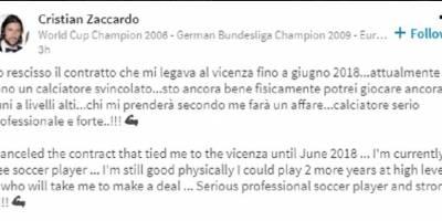 Italiano campeón del mundo en 2006 busca equipo en Linkedin