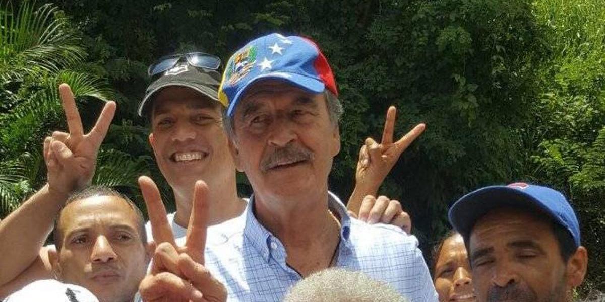 """Vicente Fox responde a Venezuela tras ser nombrado """"persona non grata"""""""